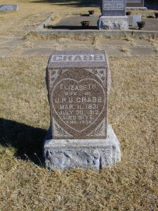 Elizabeth Laird Crabb - Buried at Milan, Ryan Township, Sumner Co., Kansas