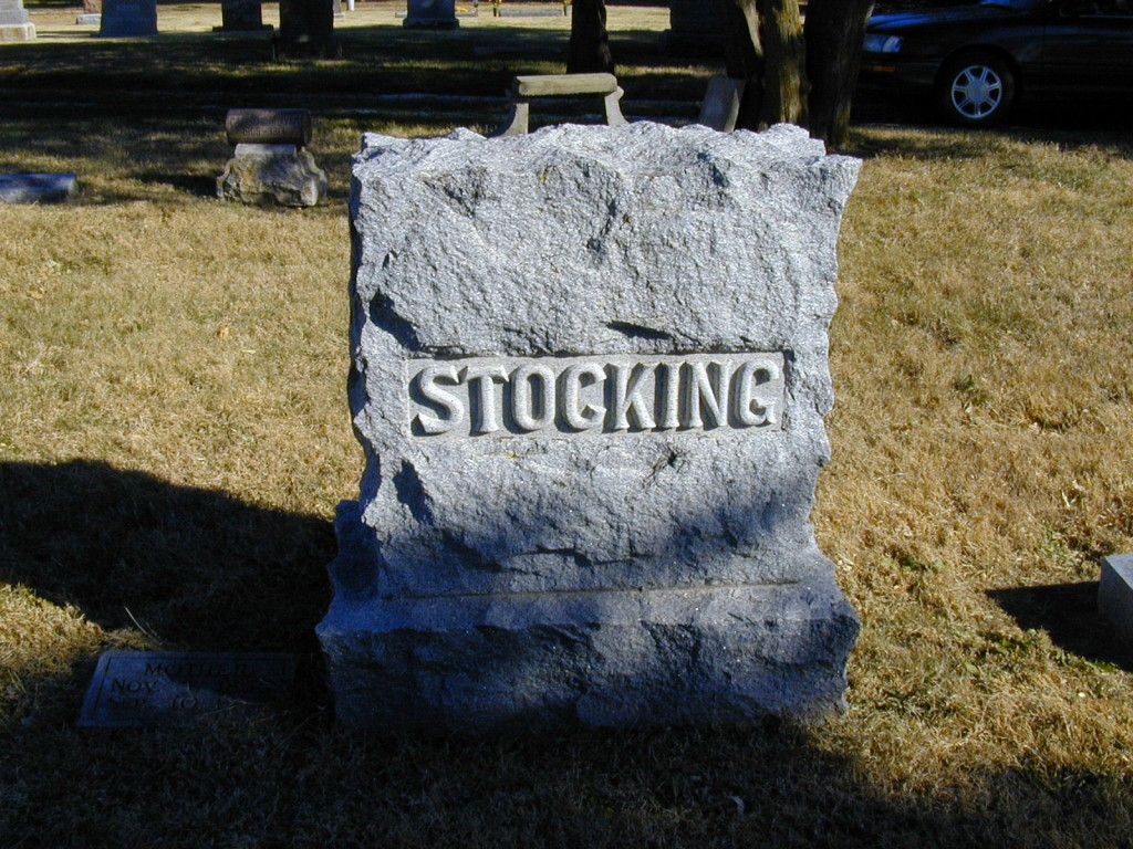 Roderick & Frances Stocking's Tombstone