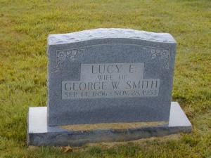 69 - Lucy Smith, Wife of George W. Smith, buried in Temple Hill Baptist Cemetery, Temple Hill, Barren County, KY