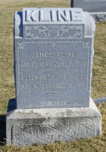 James & Elizabeth (Conver) Kline - b'd in Ryan Township Cemetery - Milan, Sumner County, Kansas