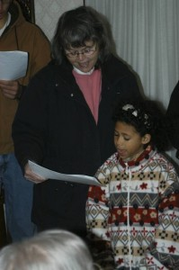 Sherry and Savvy Christmas Caroling with the church