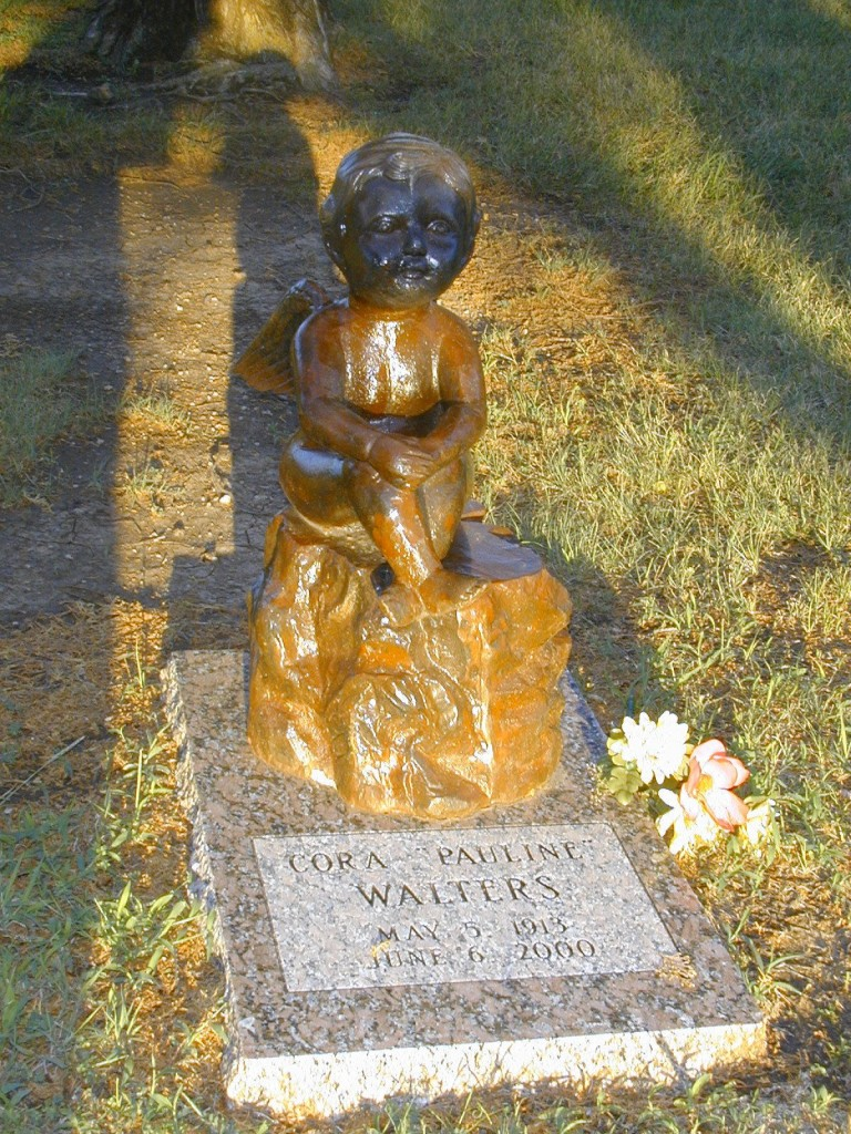 Cora Pauline Walters - buried Osborne Cemetery, Sumner County, Kansas, near Mayfield.