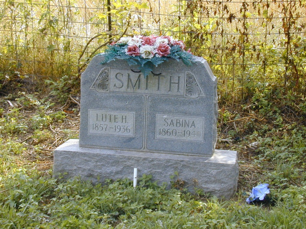 Lute & Sabina Smith - Barren County, KY - Smith Cemetery