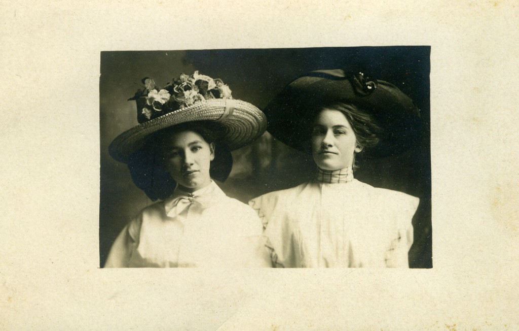 "Myrtle Rose and her McBride cousin - Myrtle is the daughter of Abraham Dorsey ""Doss"" and Alfreda Jane McBride Rose"
