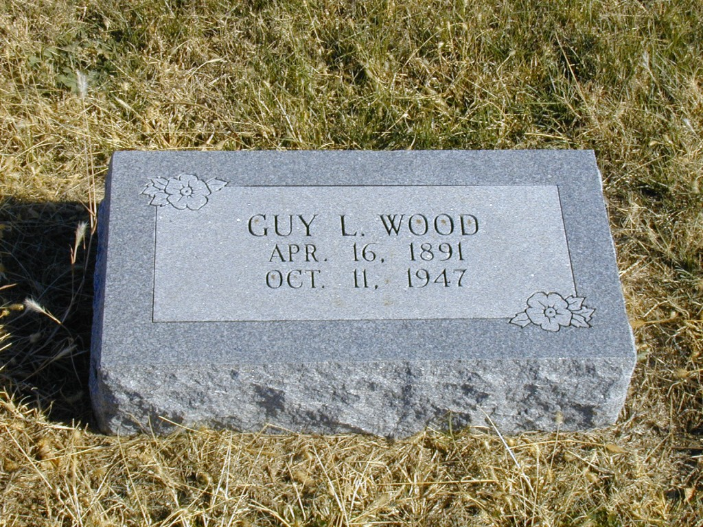 Guy Wood Tombstone - Milan Cemetery, Milan, Sumner County, Kansas