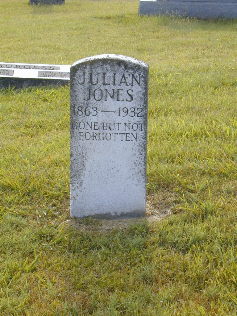 Julian Jones, Caney Fork Baptist Cemetery