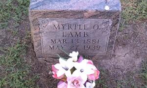 Myrtle Lamb - Osborne Cemetery, Sumner County, Kansas