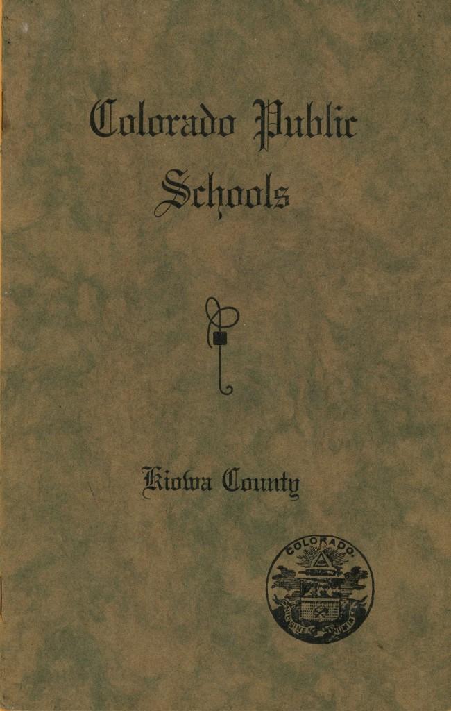 Wimp, Pauline - 1936 Elementary Graduation booklet Front